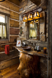 Montana Log Home Interior - Montana Architectural Photographer