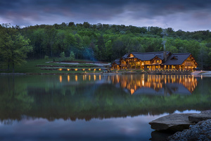 Luxury log home lake house