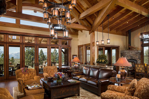 Custom Log Home The Stock Farm,Hamilton Montana