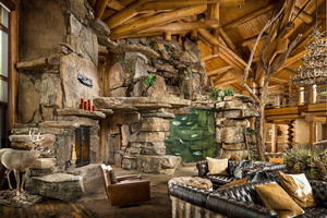 Custom Log Home Salt water Fish