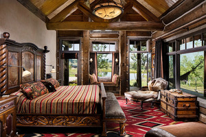 Master Bedroom Suite Log Home