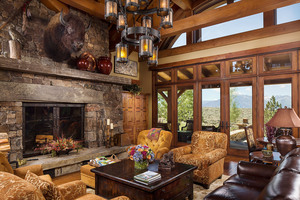 Custom Log Home Hamilton Montana
